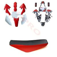 Plastics Fairing Kit Graphics Decals Seat for CRF50 Pit Dirt Bike SSR 125 110