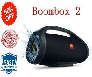 JBL Boombox 2 Portable Bluetooth Speaker  Black  Waterproof Subwoofer IPX7 Gift