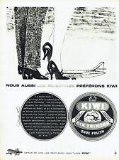 Publicité Advertising 018  1961  cirage chaussures Kiwi