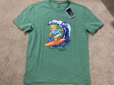 MEDIUM - New Polo Ralph Lauren 1992 Surfing Bear T-shirt - Green Mint