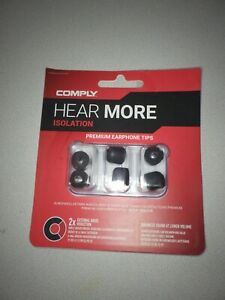 Comply Isolation Noise Cancelling Memory Foam Earphone Tips Medium,3 Pair SEALED