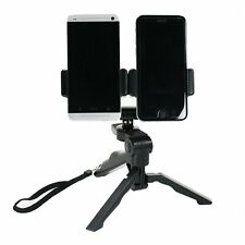 Dual Device Tripod Setup with Hand Grip Option fr Live Streaming,Video Recording