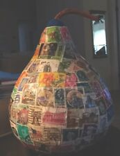 Gourd Covered in Stamps - philately