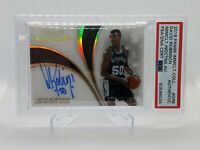 2018 Panini Immaculate Collection David Robinson Inductions Auto PSA DNA Authen.