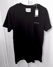 Lambretta Men's Black T Shirt Medium Crew Neck Tee Cotton Blend Short Slv A10