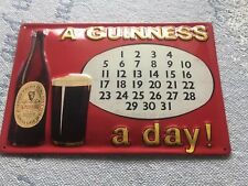 Nice Thick Metal A Guinness A Day Sign Made In Eu