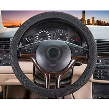 Hot 1 Pc Auto Pickup Black Decorative Elastic Ice Silk Car Steering Wheel Cover
