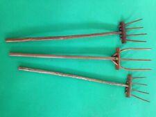 Forcone in legno massiccio rustico - produzione artigianale