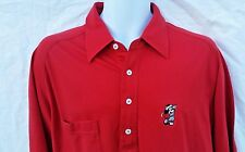 Disney Fashions Mickey Mouse golf  Polo Shirt Red Short Sleeve Men's XL