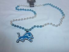 DETROIT LIONS  Mardi Gras style SPORTS BEADS with MEDALLION (set of 3)   NWT