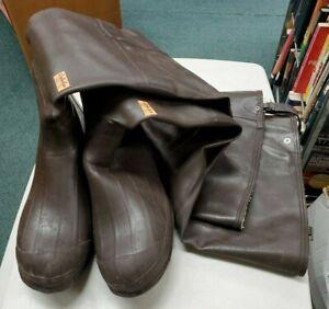 Cabelas Fly Fishing Wader Hip Boots Size 11 Steel Shank [1 belt strap missing]