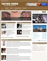 TATTOO GUIDE - Responsive Niche Website For Sale - Free Installation