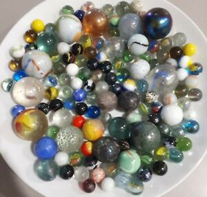 Marbles vintage 1.33kgs (127+) assortment, all sizes and ages classic toy