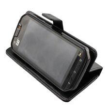 caseroxx Bookstyle-Case para Cat S60 en negro fabricado con cuero artificial