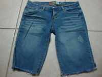 Womens OLD NAVY ultra low waist stretch blue jean shorts, 8