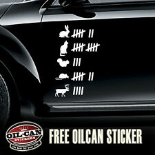 wildlife tally sticker sheet vw ratlook military look land rover 4x4 250mm high