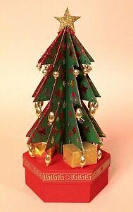 A4 Card Making Templates 3D Christmas Tree Gift Box & Display Box -Card Carousel