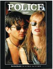 PUBLICITE ADVERTISING   1992    POLICE   COLLECTION LUNETTES