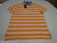 Men's Tommy Hilfiger Polo Shirt Stripe 7845156 Arctic Orange 833 XL Slim Fit