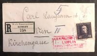 1917 Lublin Austria KUK Ettapenpostamt WWI Registered Cover To Vienna