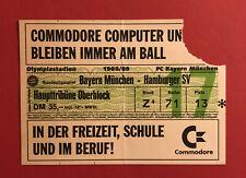 Fußball Eintrittskarte Ticket Bayern München - Hamburger SV 1988/89 ( 60193