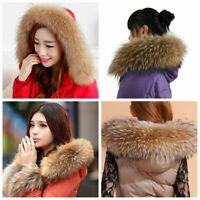 Hooded Sexy Cap Collar Faux Raccoon Fur Collar Scarves Shawl Wrap Neck Warmer