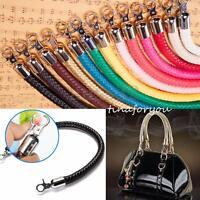 2x DIY Leather Braided Purse Handle Shoulder Bags Belt Replacement Handbag Strap