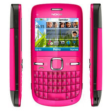 Original Nokia C3-00 Rose Unlocked Bluetooth QWERTY Keypad Bar Mobile Cell Phone