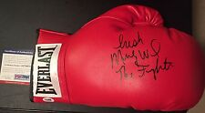 Micky Ward The Fighter Signed Autograph Everlast Leather LaceUp Boxing Glove Psa