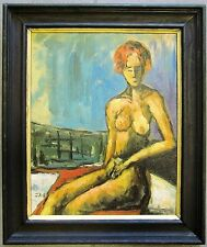 Johannes Rother-Glass (1956-) original oil painting on board female nude signed