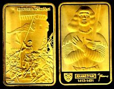 ♔♔♔ GOLD PLATED BAR : JOAN OF ARC IN ORLEANS ♔♔