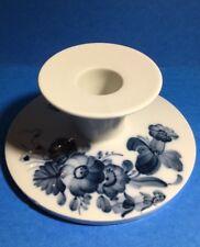 Royal Copenhagen Taper Candlestick Holder ~ White, Blue Flowers Free Shipping!