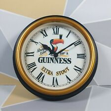 Past times Vintage Retro Guinness Wall Clock Man Cave Bar Beer Lover Time for G