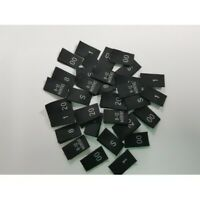 Size Labels Woven Black Small Pack.of 50