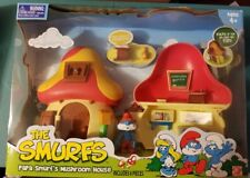 The Smurfs Papa Smurf's Mushroom House Toy New Sealed RARE RETIRED