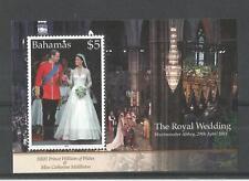 BAHAMAS 2011 ROYAL WEDDING MINISHEET SG,MS1587 U/M NH LOT 1354A