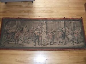 Vintage Tapestry Wall Hanging Made In France