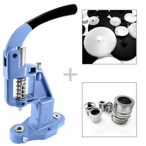 Professional button making press + 2 dies + 100 blanks set  cover machine S026
