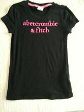 Abecrombie Girls T Shirt Size Large Black with Pink Lettering
