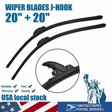 For Ford F150 F250 F350 1999-2008 Windshield Wiper Blades U & J hook Set of 2
