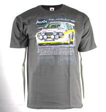 * Nuevo * Gran Rally Coches Camiseta AUDI Quattro S1-Gris Jaspeado-Talla M/Medio