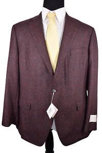 Samuelsohn NWT Soft Wool/Silk/Cashmere Sport Coat Sz 45R 2B in Burgundy