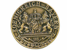 Pin Königreich Bayern Wappen Rund Kupferfarben aus Metall Ansteckpin #229 Neu