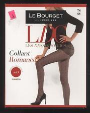 NEUF LE BOURGET COLLANT ROMANCE NOIR plumetis TAILLE 4 DESSOUS CHIC 20D