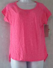 Ideology Women's Striped Mest Short-Sleeve T-Shirt, Molten Pink, XS