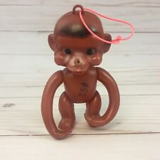 Vintage Dime Store Toy Jointed Soft Plastic Monkey 15 Cents Hong Kong