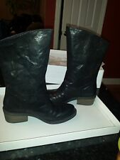 CALVIN KLEIN LEATHER JEANS BOOTS SIZE 7M $136
