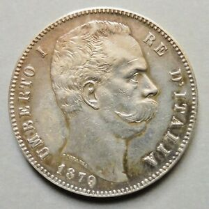 Italie - Humbert Ier - 5 Lire - 1879 R  Rome