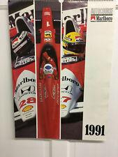 1991 MARLBORO FORMULA 1 GRAND PRIX CALENDER PRINTED IN SOUTHAM ENGLAND
