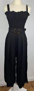 SHEIKE Womens ACE OF SPADES Jumpsuit Playsuit *BNWT* Black Size 8 Wide Leg